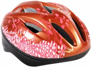 Volare Deluxe Bicycle Helmet Child Bronze Pink