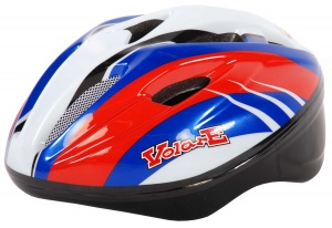 Volare Helmet Deluxe junior red / white / blue