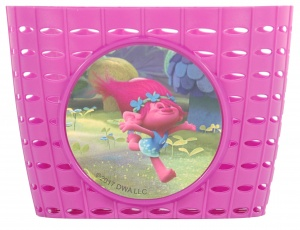 Volare bicycle basket trolls pink
