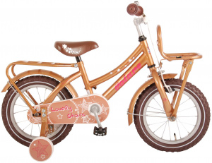 Volare Lovely Stars 14 Inch 23,5 cm Girls Coaster Brake Copper