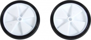 Volare side wheel set 12-20 inch plastic white / black