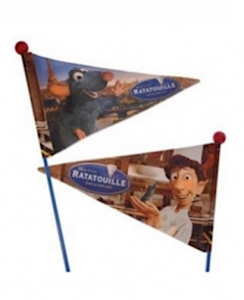 Widek bicycle flag Ratatouille150 cm blue