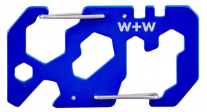 Wild & Wolf multitool 7 functions 15.4 x 12 cm stainless steel blue