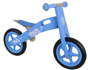 Yipeeh houten loopfiets 12 Inch Girls Light blue