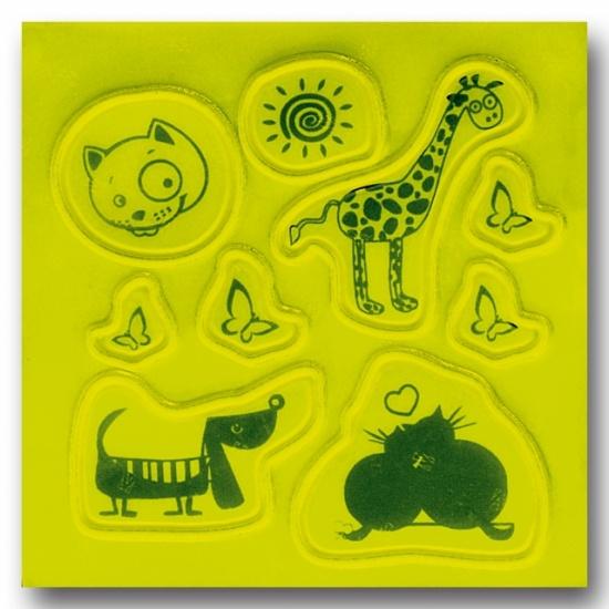 4 Act Reflecterende Stickers Dieren 10 X 10 cm Geel