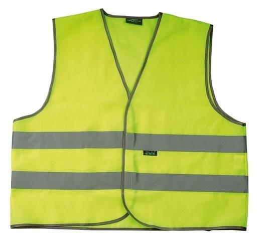 4 Act Veiligheidshesje 2HA 2 Strepen Unisex Geel Maat XL