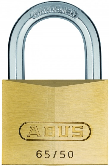 Abus 65/50 hangslot 50 x 8 mm goud in blister