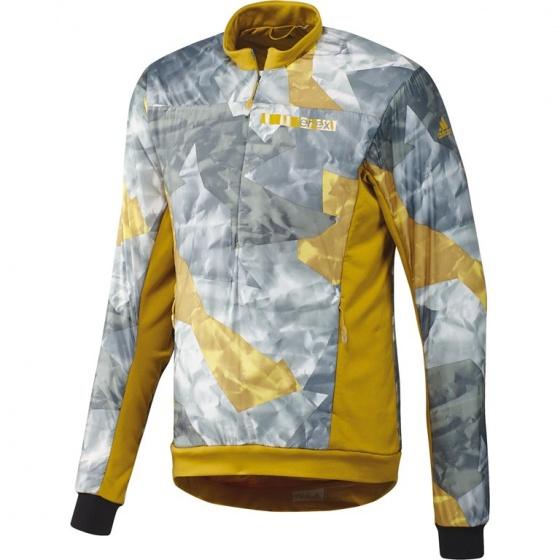 adidas fietsjack Terrex Radical Crew heren geel/grijs maat S