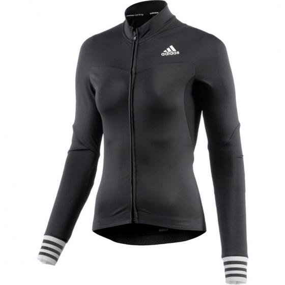 adidas Fietsshirt Adistar LS lange mouw dames zwart maat XXS
