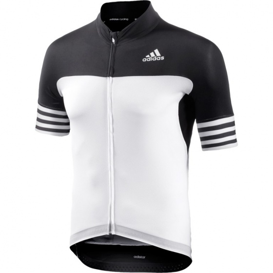 adidas fietsshirt Adistar SS heren zwart/wit maat XS