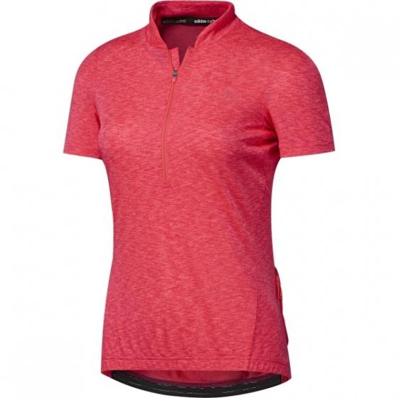 adidas fietsshirt Response SS korte mouw dames rood mt XL