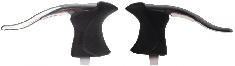 Aero remgrepen set V brake/cantilever 3 vinger zilver/zwart