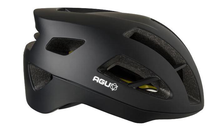 AGU fietshelm Vigarous 54 58 cm polystyreen zwart/geel maat S M