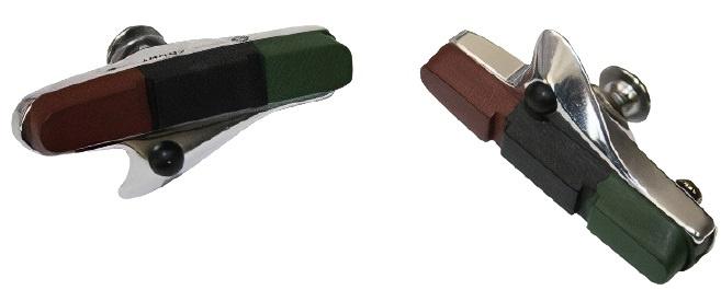 Alhonga remblokken HJ 461C3 racefietsen rood/zwart/groen