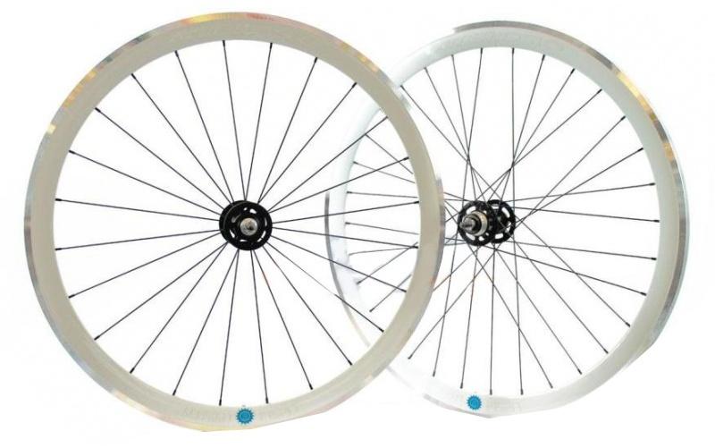 Ambrosio wielset Scattofisso 28 inch velgrem aluminium wit