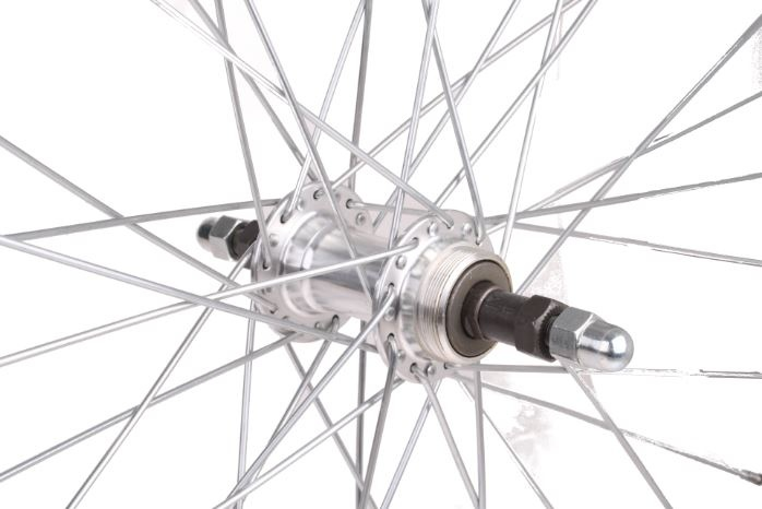TOM Achterwiel 26 inch Freewheel pion velgrem alum. 36g zilver
