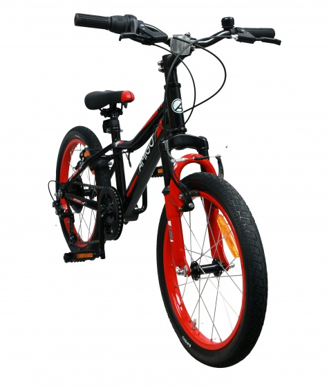 AMIGO Attack 18 Inch Boys Blue Kids bike Rim Brakes 6 Gears
