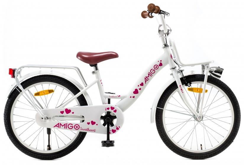 Amigo – Sweetheart 20 Inch 29 Cm Meisjes Terugtraprem Wit