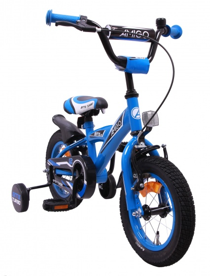 AMIGO BMX Turbo 12 Inch 19 cm Jongens Terugtraprem Blauw