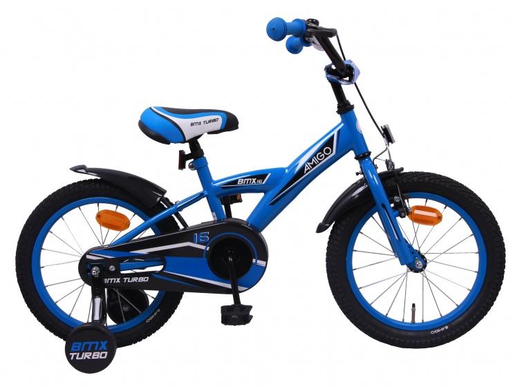 Amigo Enfants BMX Turbo 16 in 23 cm jeune Démission Frein Bleu