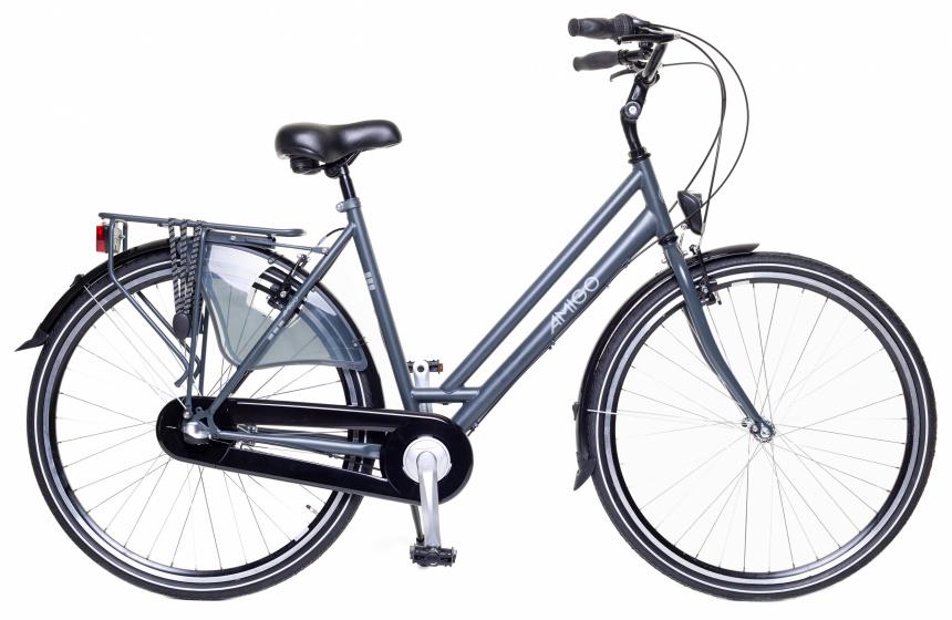 Amigo - Bright 28 Inch 53 Cm Dames 3v V-brakes Antraciet