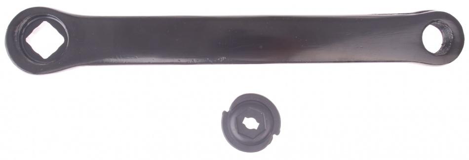 Bhogal crank spieloos staal 170 mm links zwart