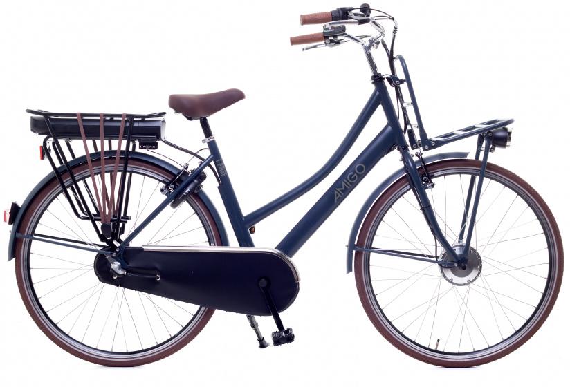 AMIGO E Pulse S6 28 Inch 53 cm Dames 3V Terugtraprem Blauwgrijs mat - Elektrische fiets