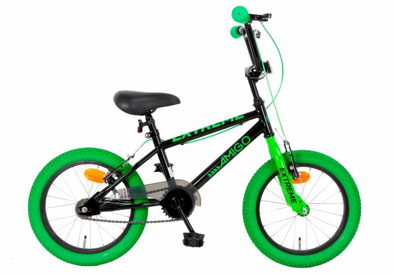 Amigo Extreme 16 Inch 25,4 Cm Junior V-brakes Groen/zwart online kopen