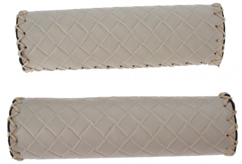 Amigo Handvat kunstleer 127 mm crème per paar