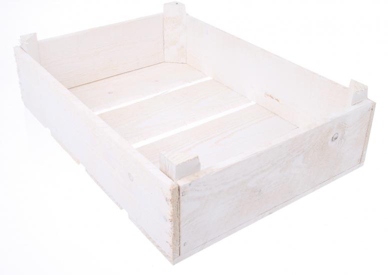 Amigo Houten Fietskrat Whitewash 430x330x130mm