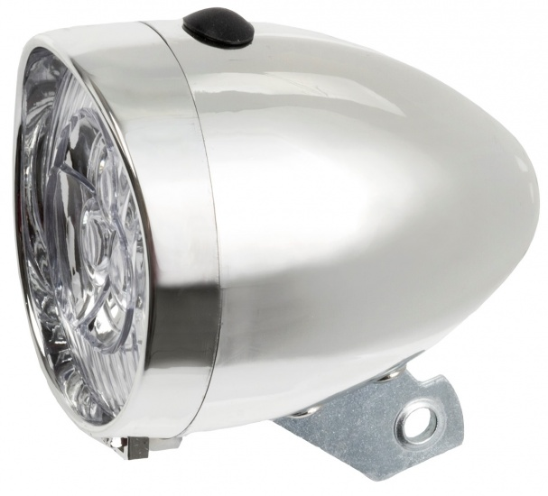 Amigo Koplamp LED batterij zilver