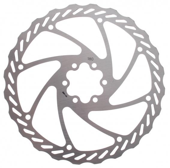 Amigo remschijf 180 mm 6 gaats zilver staal