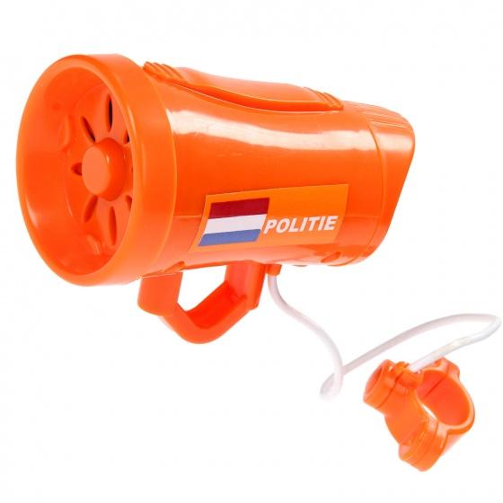 Amigo sirene politie junior oranje 10 cm