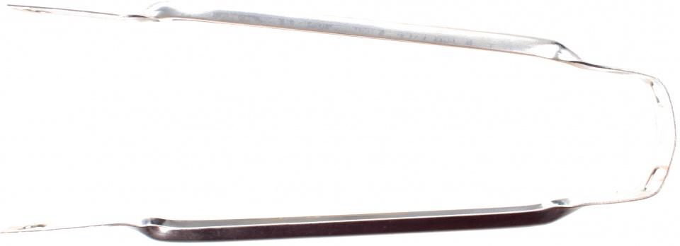 TOM spatbordstang 16 inch staal zilver