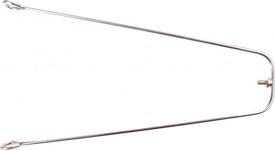 TOM spatbordstang 16 inch zilver staal