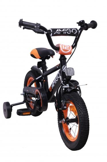 12 Zoll 20 cm Jungen Rücktrittbremse Kinder-Fahrrad Stützräder Bike Grau