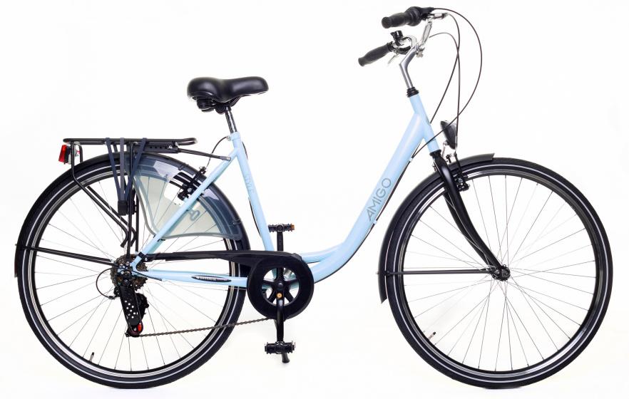 Amigo Style 28 Inch 49 Cm Dames 6v V-brakes Lichtblauw online kopen