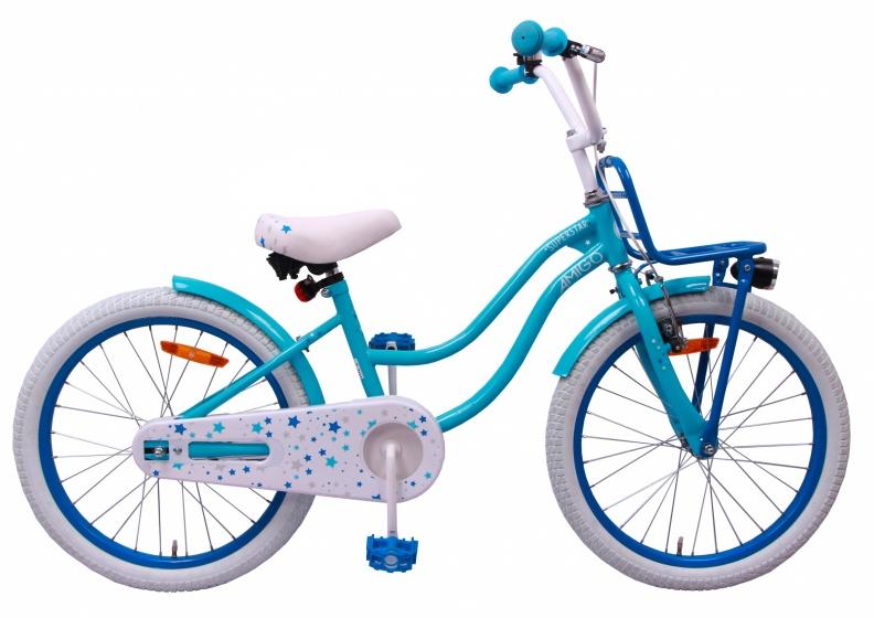 nouveau design diversifié dans l'emballage procédés de teinture minutieux Superstar 20 pouces Fille Frein à rétropédalage Bleu ciel