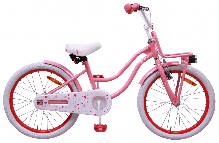 Amigo - Superstar 20 Inch 28 Cm Meisjes Terugtraprem Roze