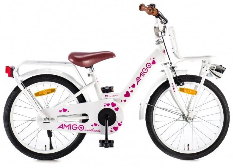 AMIGO Sweetheart 18 Inch 24 cm Meisjes Terugtraprem Wit