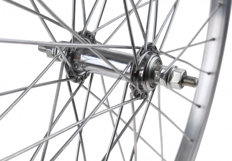 TOM voorwiel 24 x 1 3/8 velgrem 36G aluminium zilver