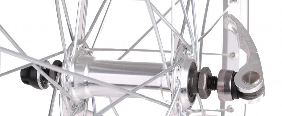 TOM Voorwiel 28 x 1 5/8 aluminium 36G zilver