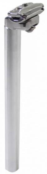 Amigo zadelpen vast 27,2 x 350 mm aluminium zilver