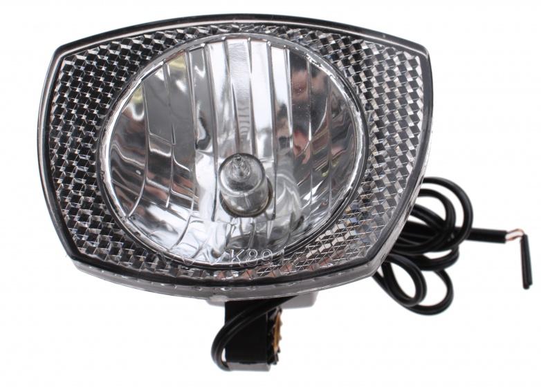 Anlun koplamp met stekker halogeen dynamo zwart