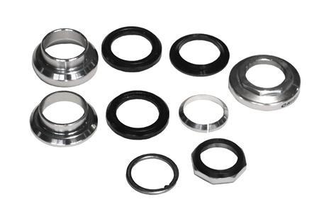 Arix Balhoofdstel Ahead 1.1 8 Draad Aluminium Zilver