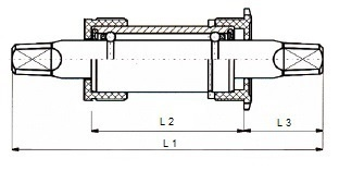 Atom trapas met spie 916 11 B 134 x 16 mm zilver