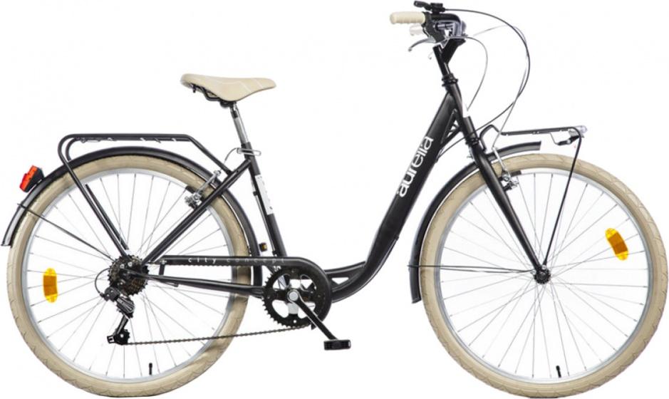 Aurelia Smart City 26 Inch 43 cm Meisjes 6V V Brake Zwart
