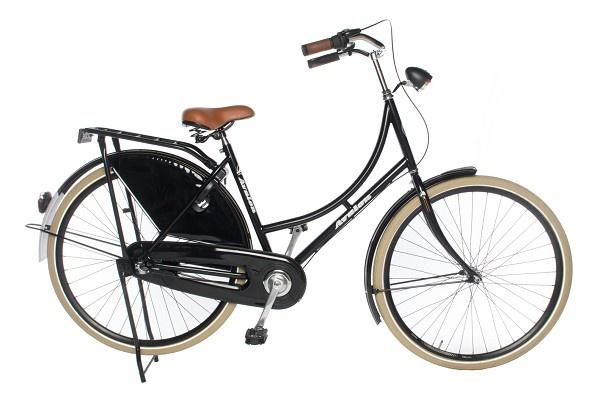 Avalon Classic De Luxe 28 Inch 50 cm Dames 3V Terugtraprem Zwart