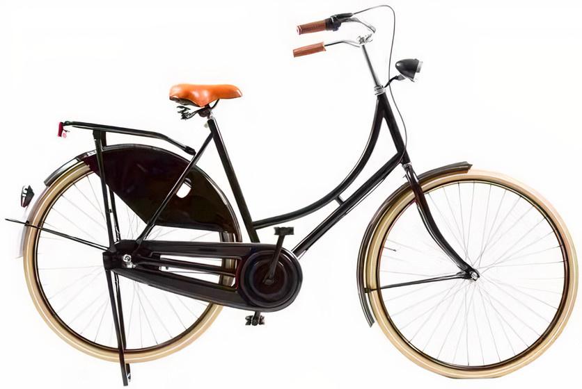 Avalon Classic De Luxe 28 Inch 50 cm Dames 3V Trommelrem Zwart