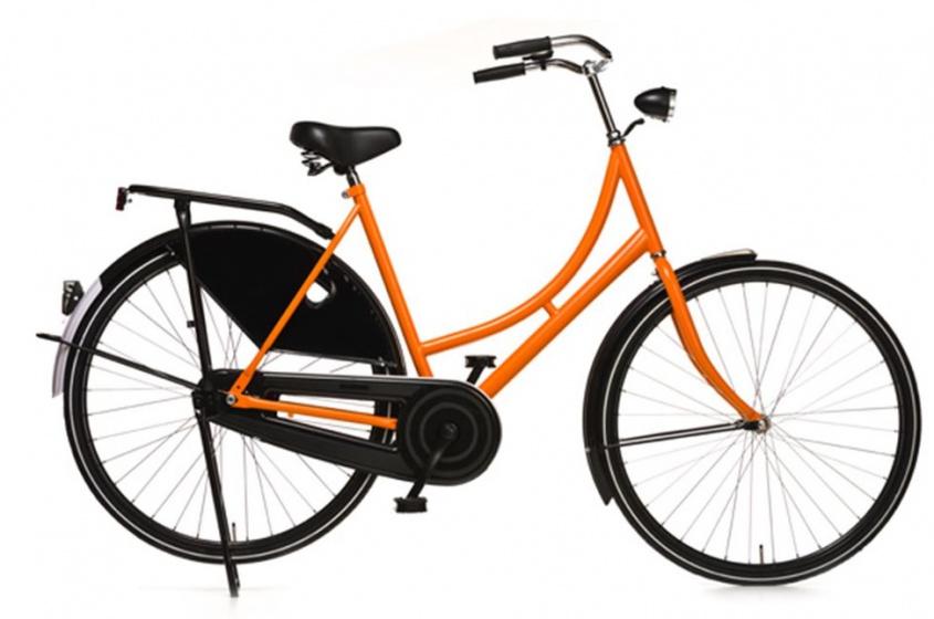 Avalon - Oma Export 28 Inch 57 Cm Dames Terugtraprem Zwart/oranje